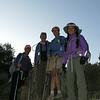 Sooz, Bex, Robin and Cori at the trailhead
