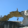 Indian Rock Arch, the only natural arch in Yosemite (photo credit to Laurie with my camera)