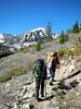 Start of hike . . . Kearsarge Trail (photo by Bob Huey)