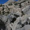 Boulders on north shore of Lower Lamarck Lk