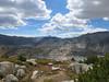 Looking back at Saddlebag Lk, Steelhead Lk, tarns, Cascade Lk  as we're climbing to the unnamed pass