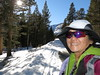 Start of the hike/snowshoe is .7 mi before the Virginia Lake parking lot