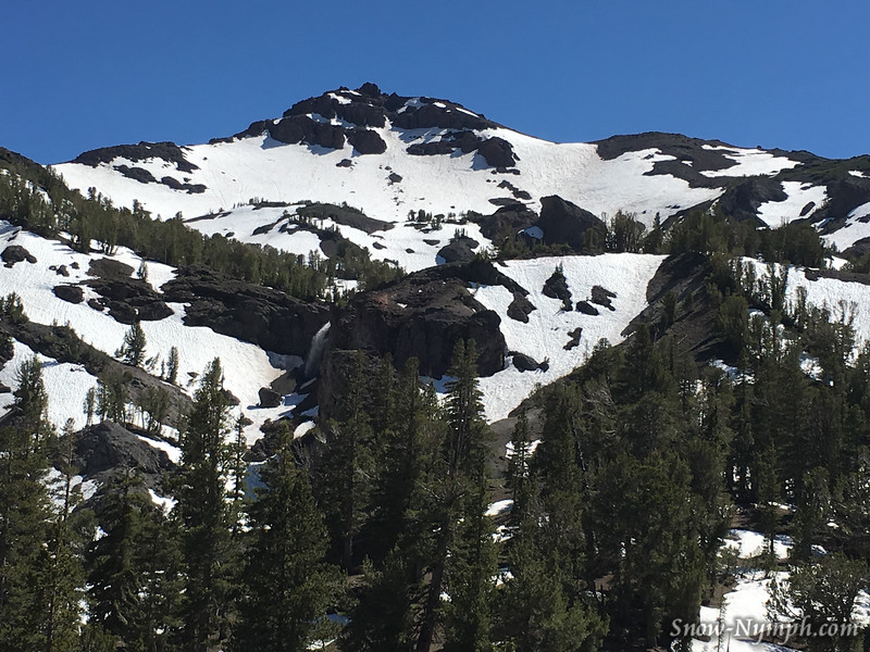 June 21, 2016  Sonora Pass (big waterfall left of big rock in middle