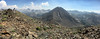 Pano - V with Red Slate Mtn, Bloody Mtn, Laurel Lakes