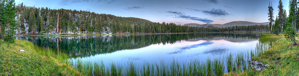 Forester Lake sunset panorama from the north side of the lake, August 21, 2012.