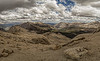 Franklin Pass panorama: view east to Whitney crest, August 21, 2012.
