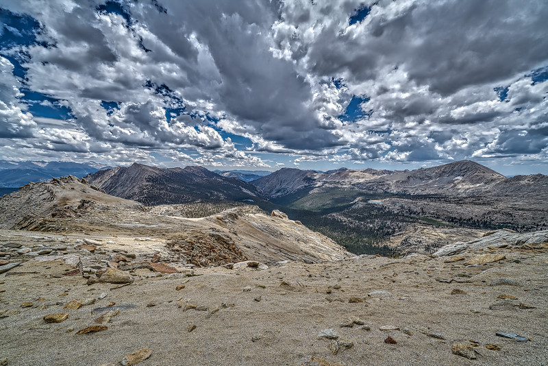 Franklin Pass, view east to Whitney Crest, July 19, 2018.