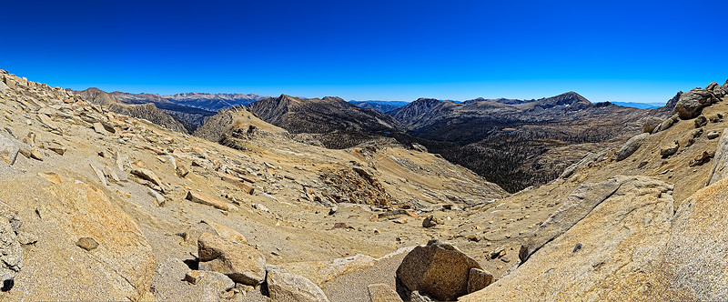 Franklin Pass panorama looking east to Whitney crest, September 10, 2010.