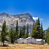 Vogelsang High Sierra Camp and Vogelsang Peak 11,493 ft.