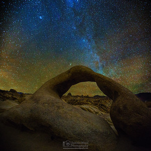 """From Mobius Arch,"" Alabama Hills, Lone Pine, California"
