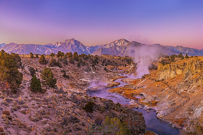 """Cold Heat,"" Alpenglow during morning twilight over Laurel Mountain, Mount Morrison, Mini Morrison (Mono Jim Peak) and Hot Creek, Sierra Nevada Mountains, California"