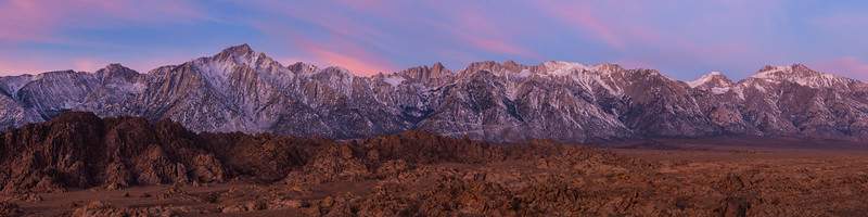 Whitney Twilight from the Alabama Hills