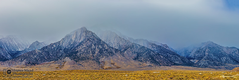 """Sierra Veil,"" The First Storm of Winter, Eastern Sierra Nevada Mountains, California"