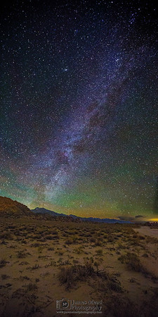"""""""Sierra Nights,"""" Winter Milky Way over the Sierras Nevada Mountains and Alabama Hills, Inyo National Forest, California"""
