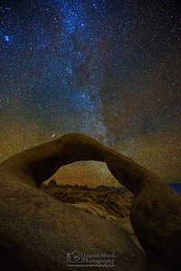 """Mobius Window,"" The Winter Milky Way through Mobius Arch, Alabama Hills, Lone Pine, California"