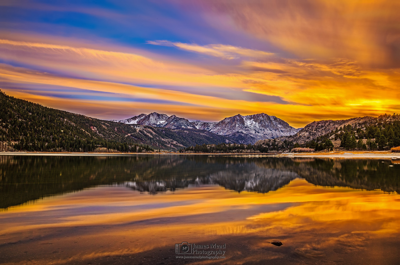 """June Lake Reflections,"" June Lake, Inyo National Forest, Sierra Nevada Mountains, California"