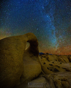 """Rocky Surprise,"" Mobius Arch and the Winter Milky Way, Alabama Hills, Lone Pine, California"