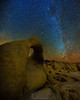 """""""Mobius Arch and the Winter Milky Way,"""" Alabama Hills, Lone Pine, California"""