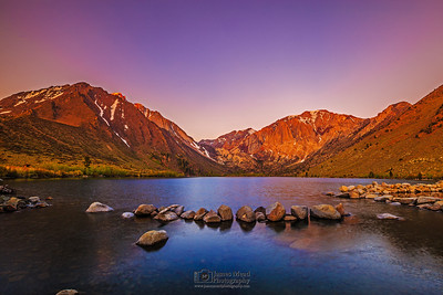 """Alpine Awakening,"" Dawn over Convict Lake, Mount Morrison, Mono Jim Peak (Mini Morrison) and Laurel Mountain, Inyo National Forest, Sierra Nevada Mountains, California"