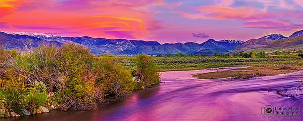 """Sunset's Daydream,"" Sweetwater Mountains at Sunset, West Walker River, Toiyabe National Forest, California"