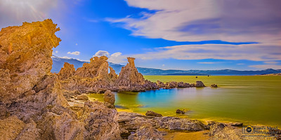 """Throne Room,"" Mono Lake Golden Hour, Mono Lake, Sierra Nevada Mountains, California"