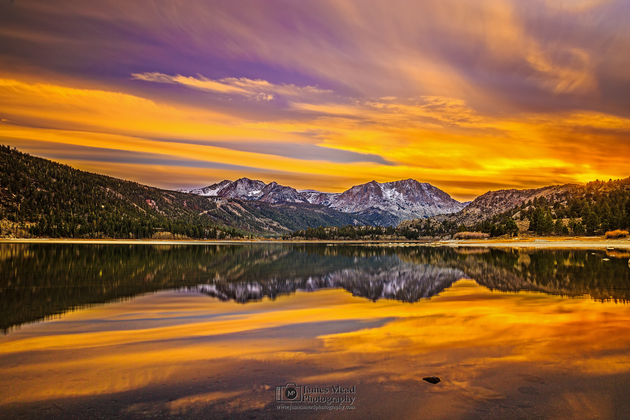 """Sunset Reflections over June Lake,"" June Lake, Inyo National Forest, Sierra Nevada Mountains, California"