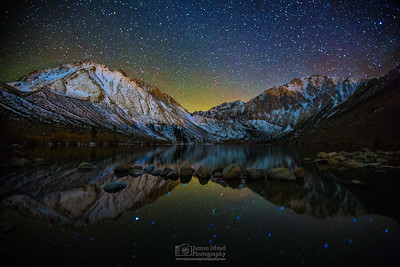 """Nighttime Reflections,"" Convict Lake, Mount Morrison, Mono Jim Peak (Mini Morrison) and Laurel Mountain, Inyo National Forest, Sierra Nevada Mountains, California"