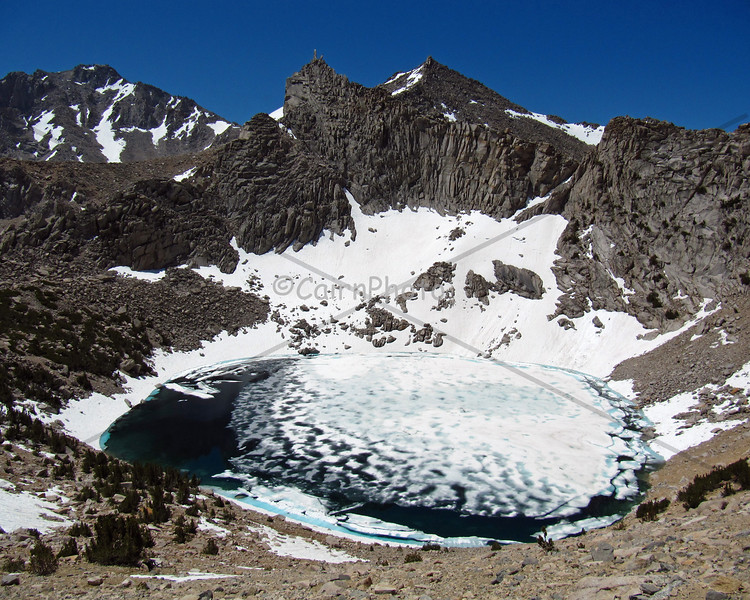 Pothole Lake, Kearsarge Pass trail.  This was a great 4th of July backpacking trip. I can't think of a better way to celebrate our country than to hike deep into her wilderness.