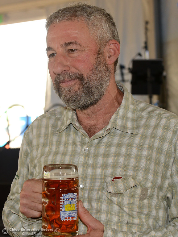 . Ken Grossman talks about the partnership to create a special beer for Sierra Nevada Brewing Co. as it holds its first of four Oktoberfest celebrations Friday, Sept. 29, 2017, in Chico, California. (Dan Reidel -- Enterprise-Record)
