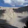 2nd class chute on Lone Pine Peak