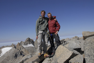 Kurt Wedberg & Eric Larson on the summit of Mt. Sill Sept 6, 2007