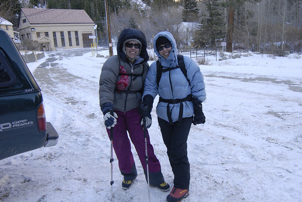 Lori and Heidi geared up and ready for a great day.