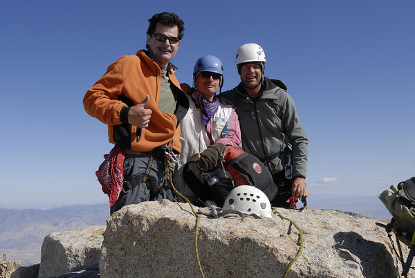 Summit success on a clear crisp fall day in the Sierra