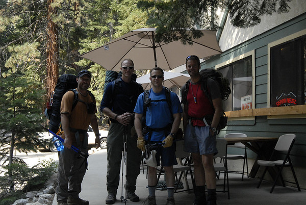 The team at Whitney Portal saddled up and ready to climb