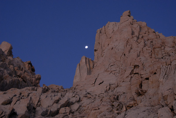 Moon over the East Face of Mt. Whitney