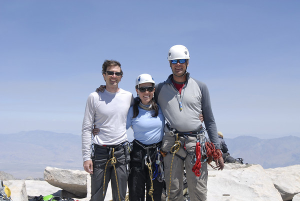 Summit success!!  Left to right:  Andy, Eileen, and Kurt