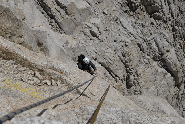 The Fresh Air Traverse on the East Face of Mt. Whitney