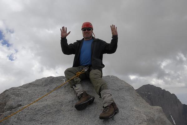 Ed on the summit block of Mt. Tyndall