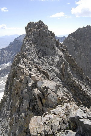 The summit ridge of Norman Clyde Peak