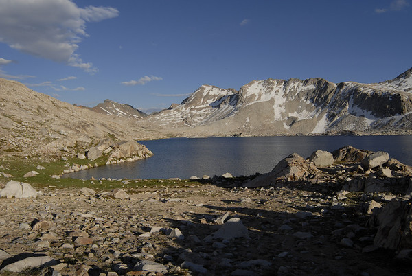 Wanda Lake at 11,426 feet.  Our camp site at the end of day 1.