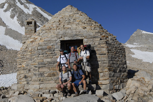 The Muir Hut at Muir Pass at 12,000 feet.  This hut was built as an emergency shelter for this very remote part of the John Muir Trail