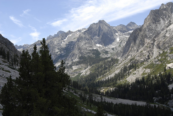 Looking back at LeConte Canyon as we started up towards Bishop Pass