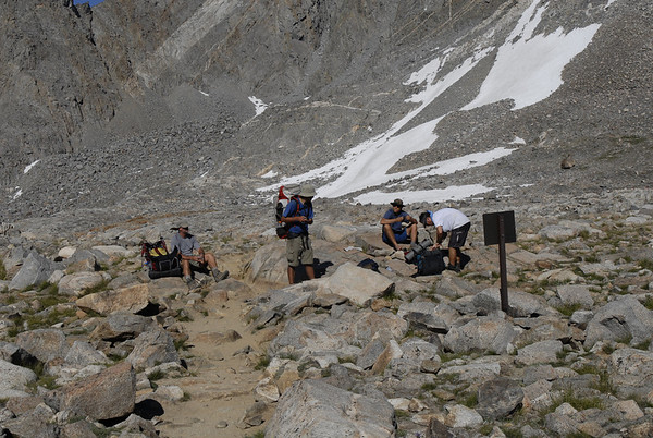 Bishop Pass.  Its all (mostly) downhill from here!