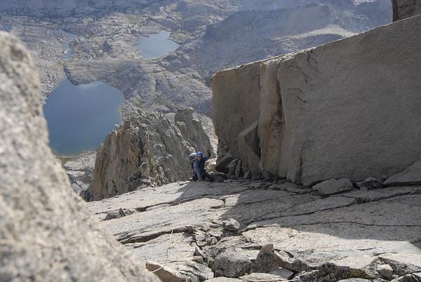 Ben on the traverse towards North Palisade Peak