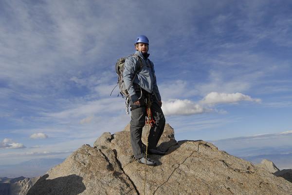 Ben on the summit of North Palisade Peak