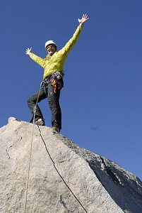 Kurt Wedberg on top of Thunderbolt Peak, October 1, 2009
