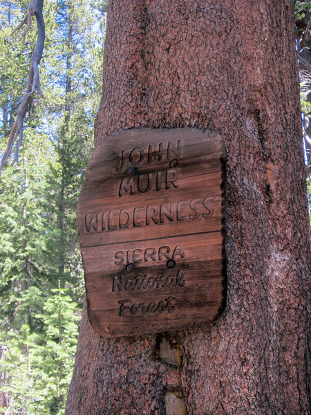Entering the John Muir Wilderness on our first day