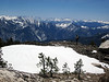 The view south from Crown Ridge, over the Monarch Divide and far off to the Kaweah Peaks.