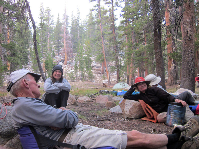 First evening of our Hooper Lakes backpack--camp below Gordon Lake