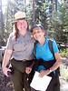 Heather poses with NPS's Dana Dierkes